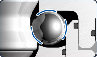 Zero Point Mounting System - Form Fit Ball Channel - Tapered contact areas eliminate point loads and reduce failures.